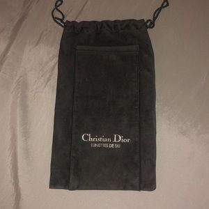 Christian Dior velvet pouch